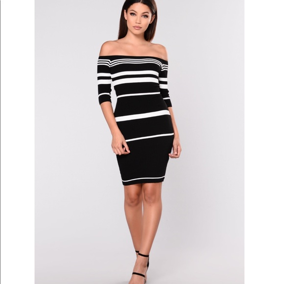 52abb73679f NWOT Fashion Nova Shora Striped Dress